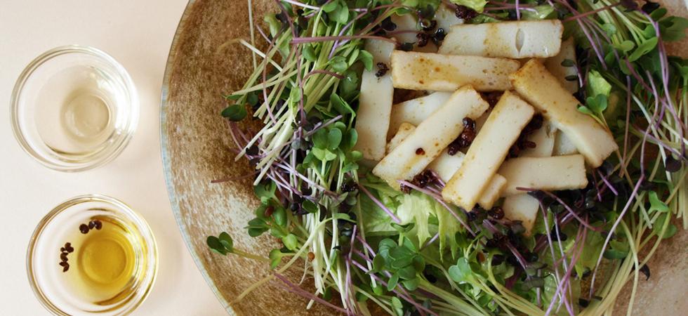 ばらもん揚げの花山椒風味サラダ
