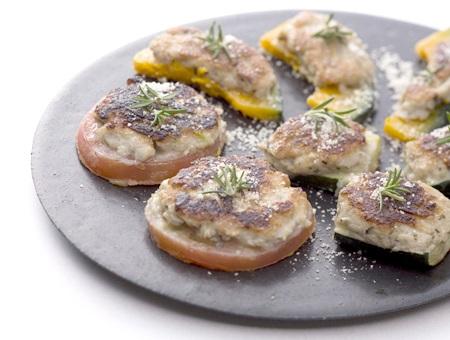生すりみ(黒)の野菜のチーズ焼き