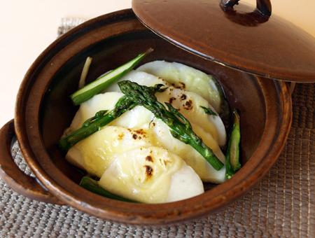 五島一番と野菜の柚子胡椒チーズ焼き
