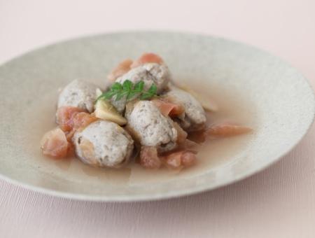 黒すり身の梅生姜煮